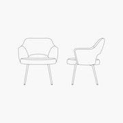 Armchair - Metal Legs