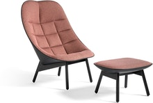 Uchiwa Lounge Chair and Ottoman