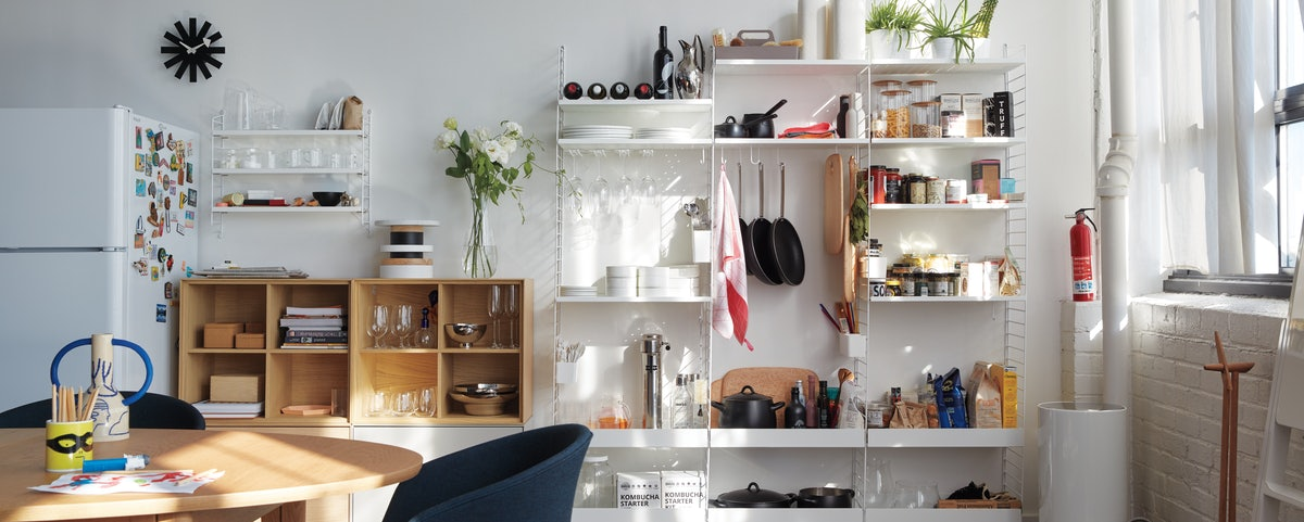 String Chef Kitchen and Forma Shelving