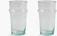 Moroccan Handblown Glass Set of 2 Small