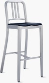 1006 Navy Stool with Seat Pad