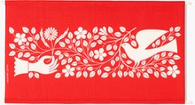 A Girard Environmental Enrichment Panel in Hand & Dove pattern.ck and White.