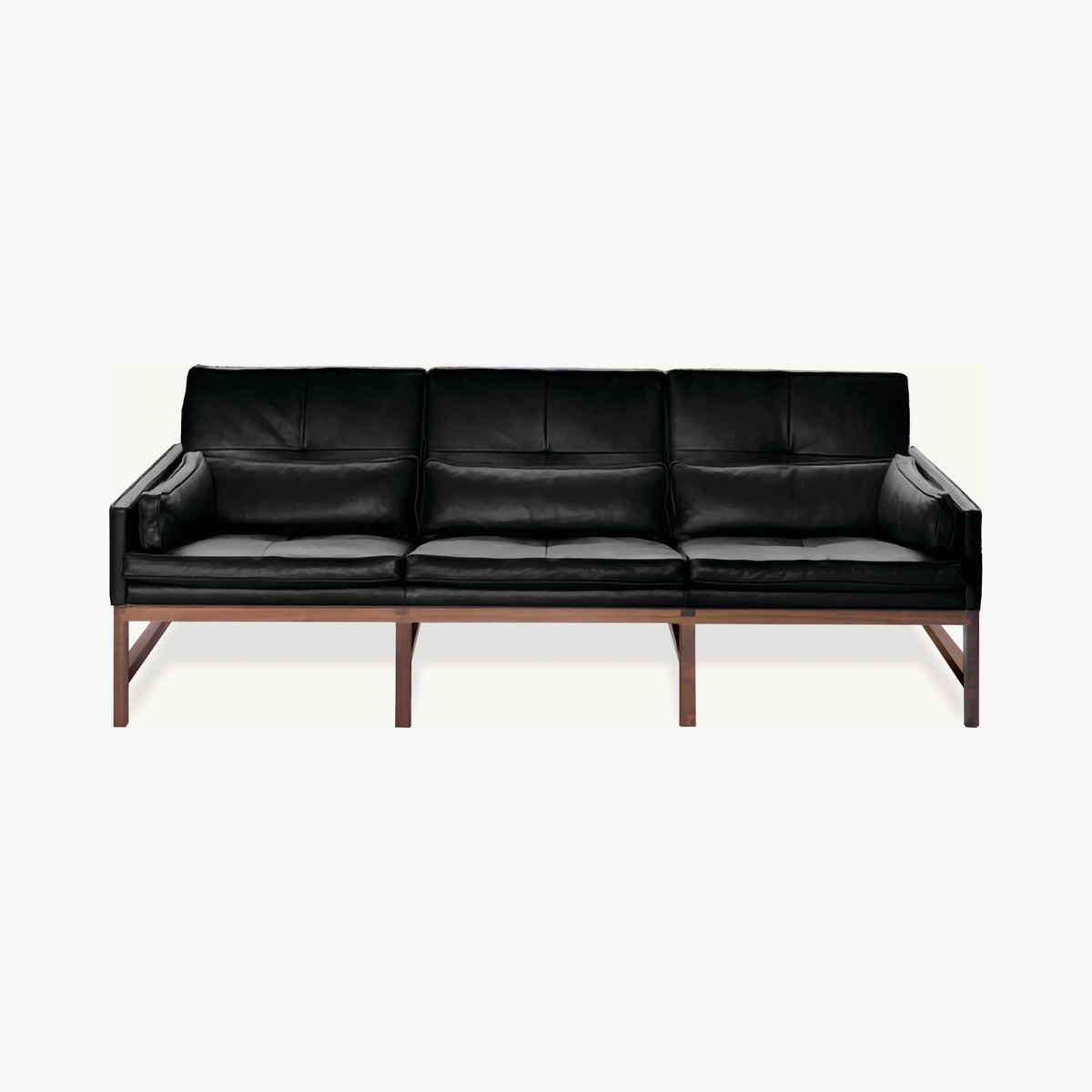 Wood Frame Low Back Sofa