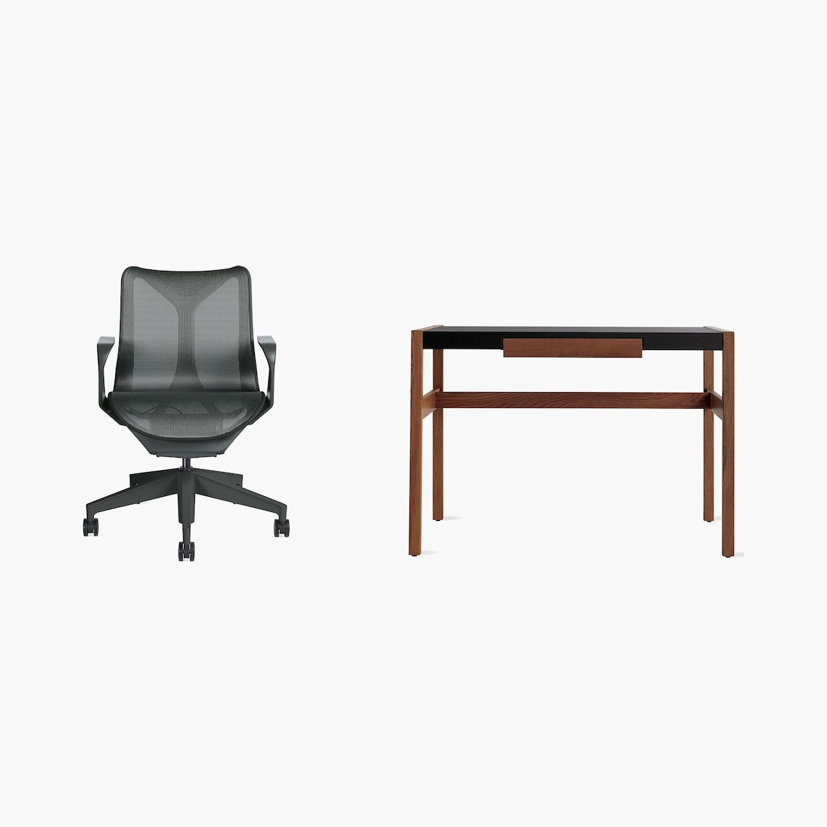 Cosm Chair / Risom Desk Office Bundle