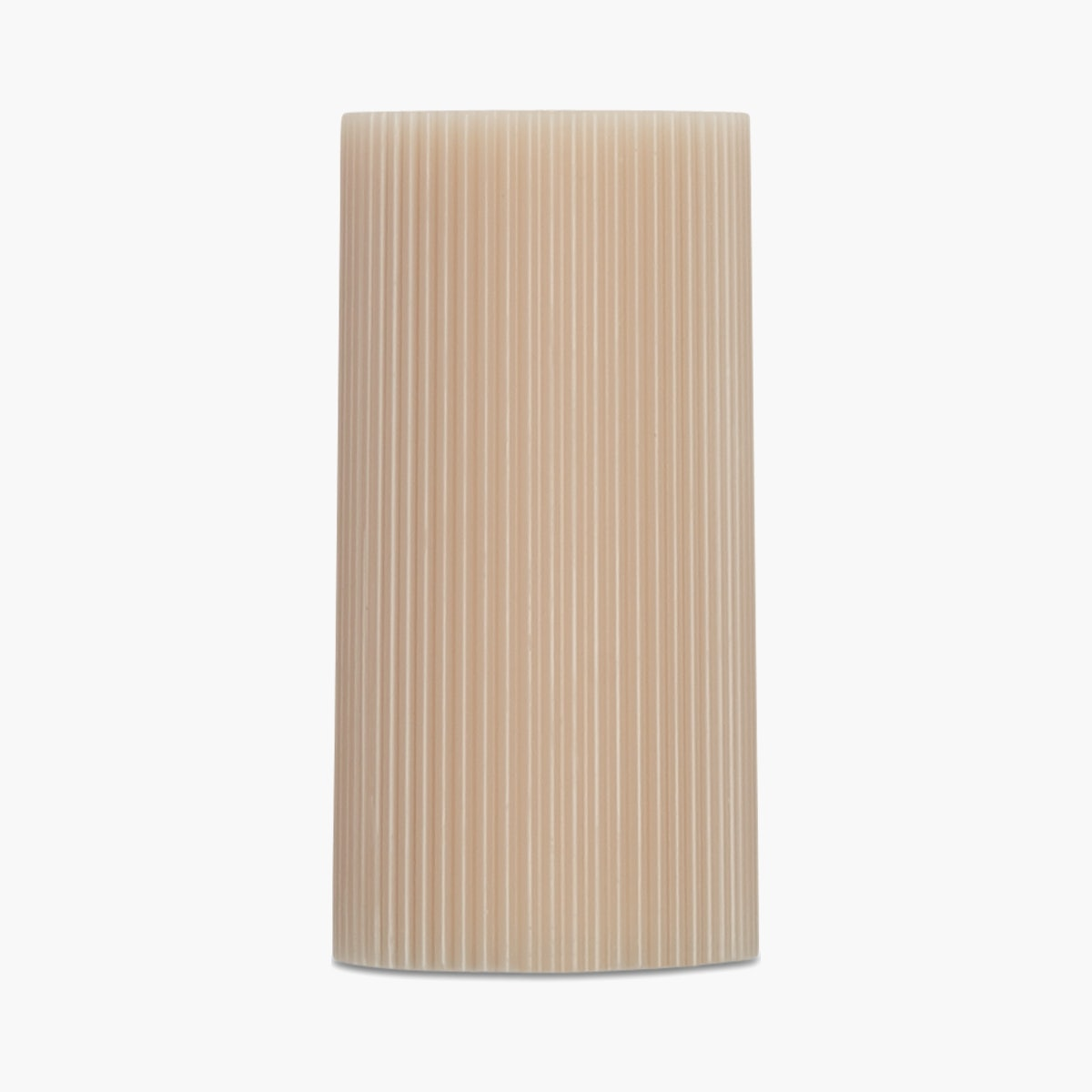 Ribbed Pillar Candle