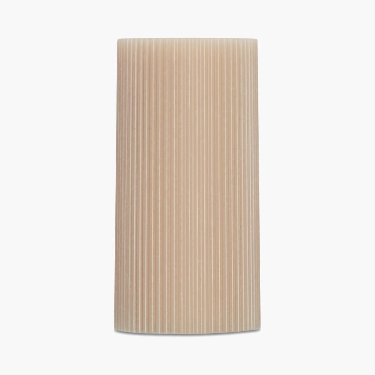 Ribbed Pillar Candle