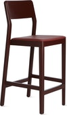 Note Stool, Burgundy, Leather