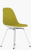 Eames Upholstered Molded Plastic Side Chair - 4-Leg Base