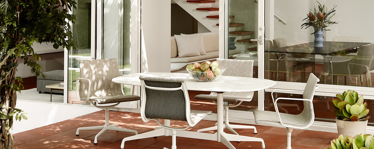 Eames Aluminum Side Chair-Outdoor