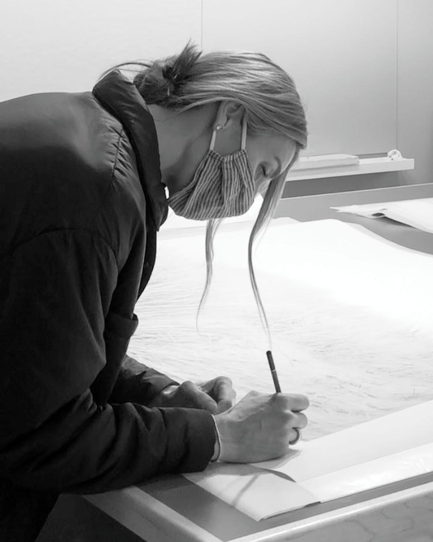 Cas signing a DWR piece -DUNES no.7100