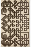 A Girard Environmental Enrichment Panel in Knot pattern.