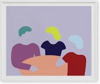 Three At Table - Dana Bell