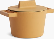 Terra Cotto Large Round Saucepot with Lid