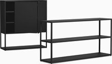 New Order Set - Low Wide Bookshelf and Cabinet