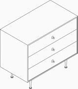 Nelson Thin Edge 3-Drawer Chest