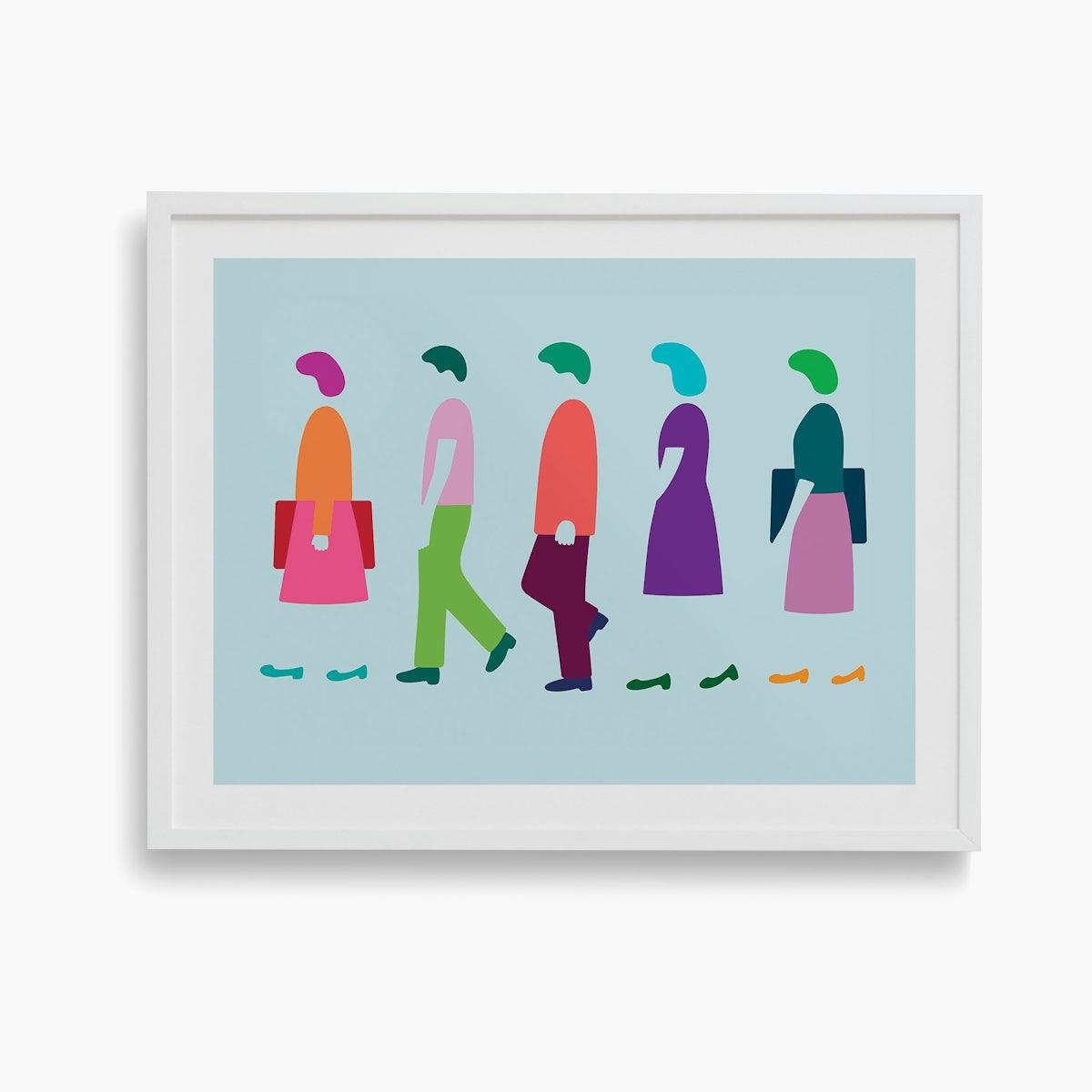 """""""Five Women Walking"""" by Dana Bell"""
