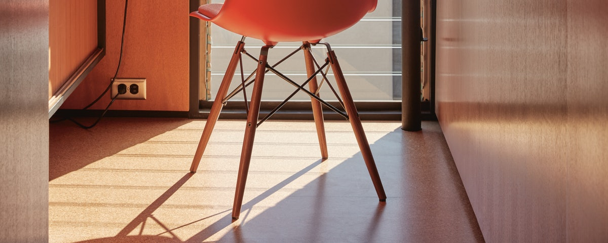 Eames Upholstered Molded Plastic Side Chair