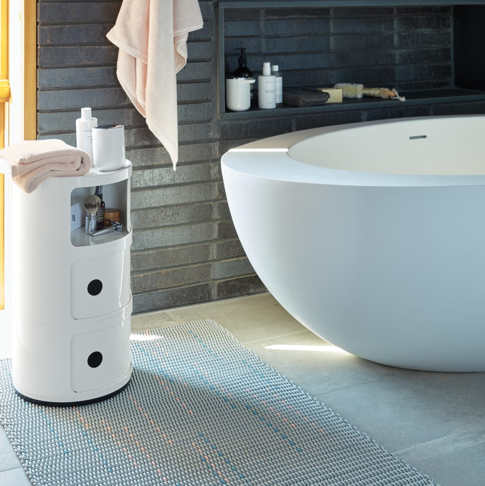 Confetti Floor Mat Large Runner in Bathroom