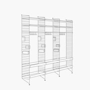 "Chef/Stemware/Sommelier - 3 Bays - 24"" Wide Shelves"