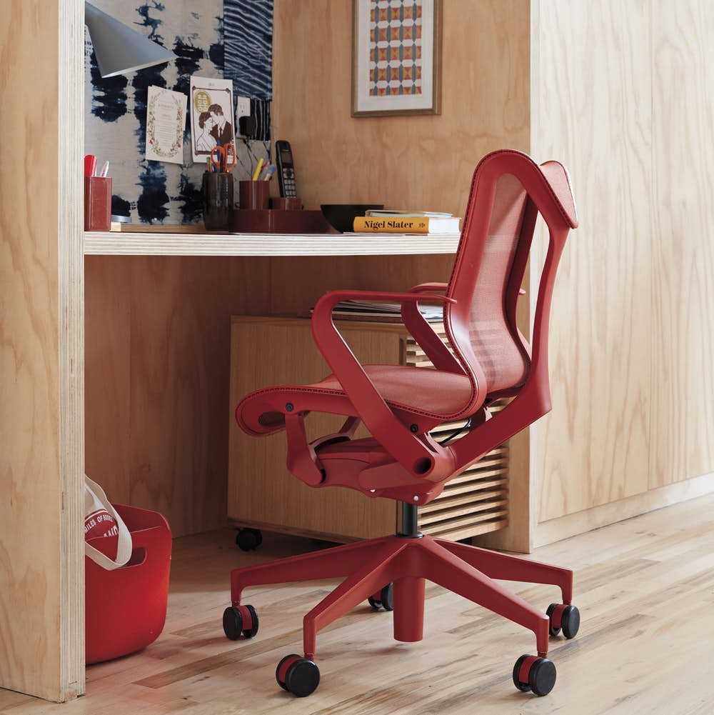 Cosm Chair Low Back with Fixed Arms