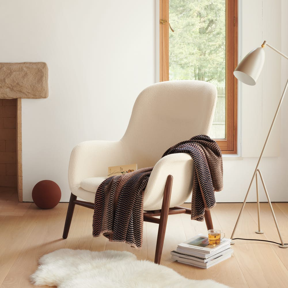 Nora Lounge Chair and Grasshopper Floor Lamp