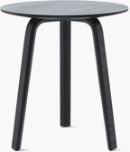 A black Bella Side Table viewed from the front
