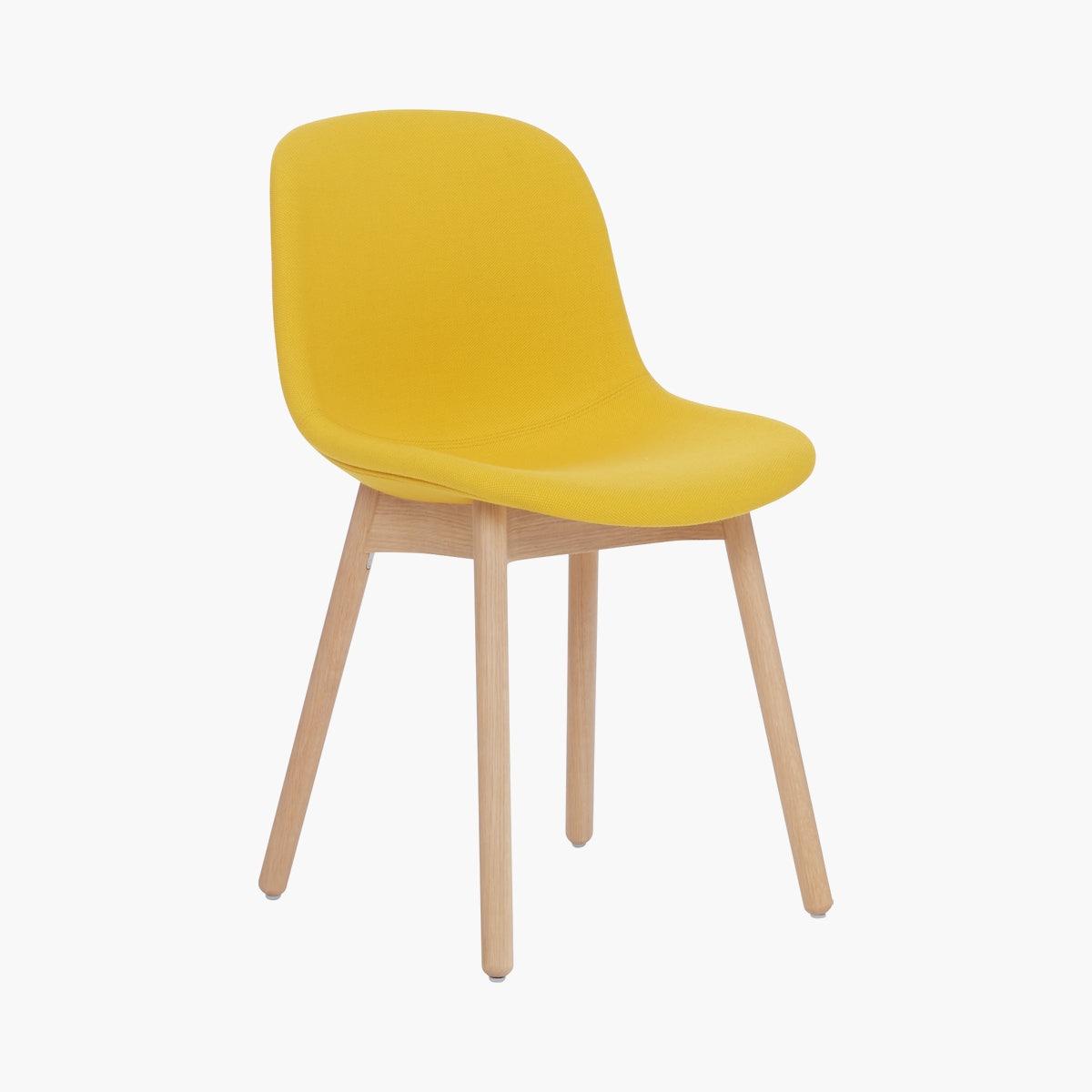 Neu 13 - Upholstered Side Chair Wood Base