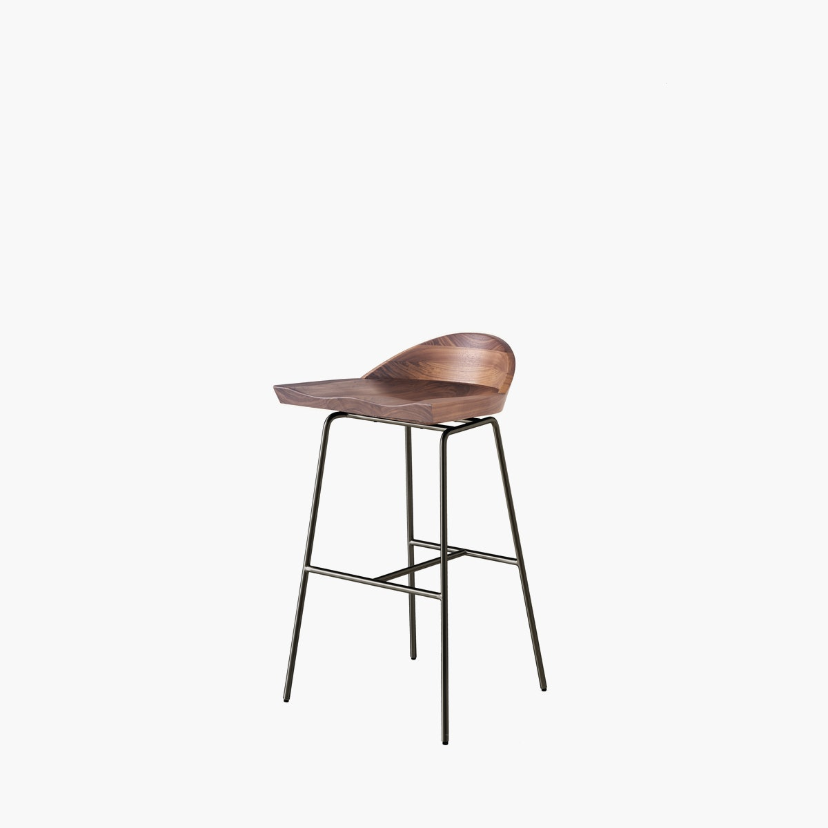 Spindle Stool, Low Back