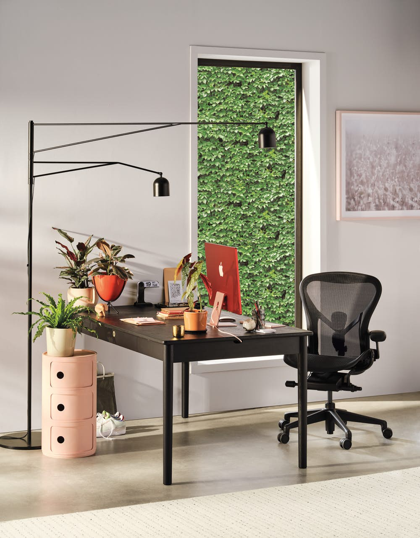 Edel Standard Desk with Aeron Onyx