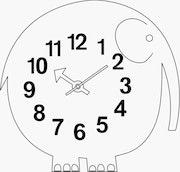Nelson Elihu The Elephant Wall Clock