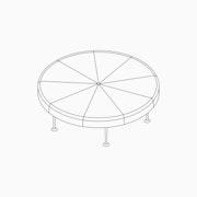 Girard Color Wheel Ottoman