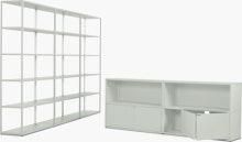 New Order Set - Media Unit and High Triple Bookshelf