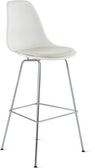 Eames Molded Plastic Stool with Seat Pad