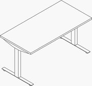 Nevi Sit to Stand Table - Standard Height - 24x48