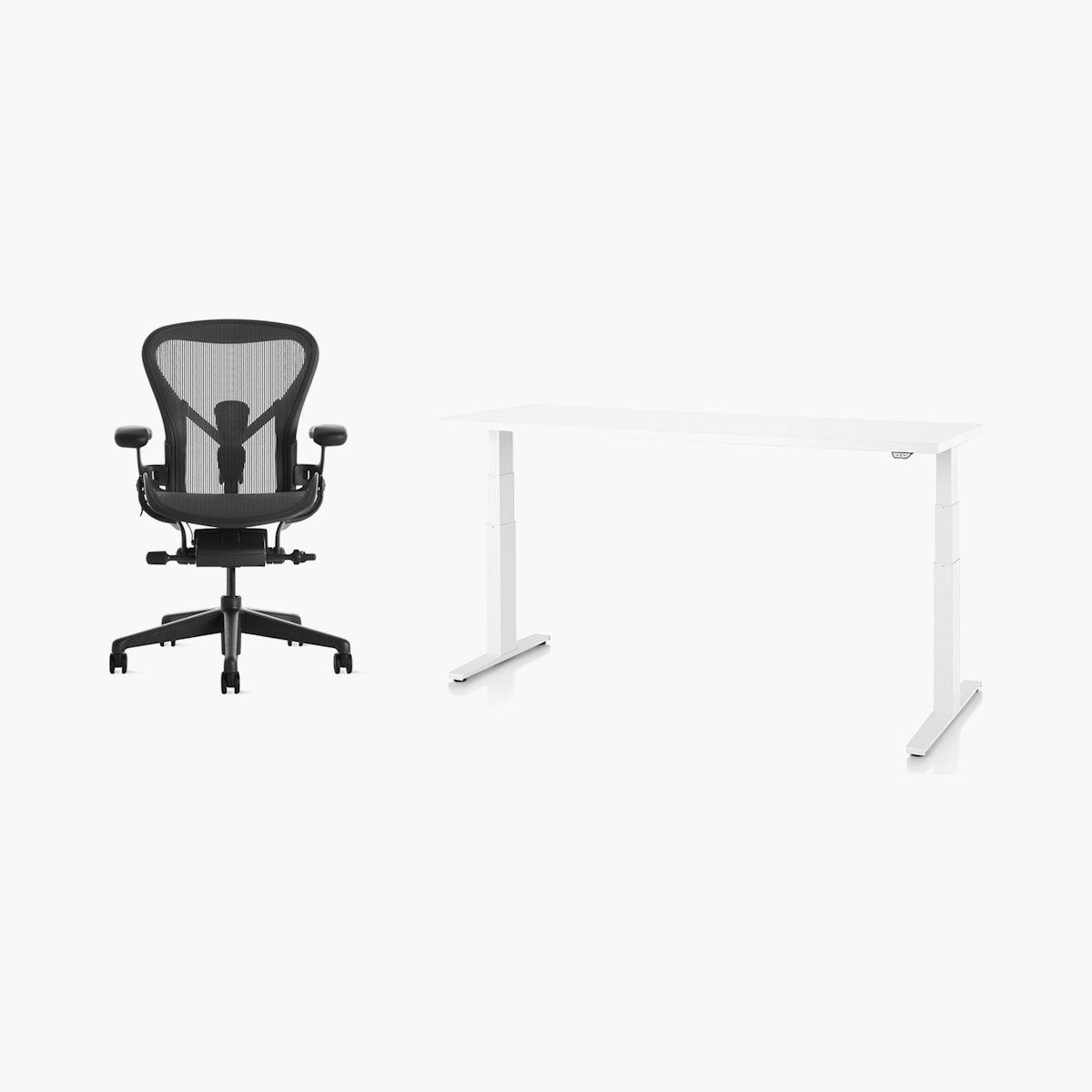 Aeron Chair / Motia Desk Office Bundle