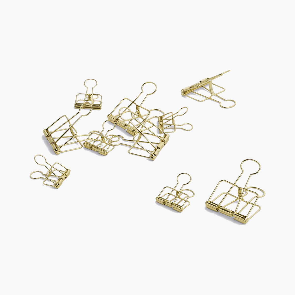 Outline Paperclips, Gold