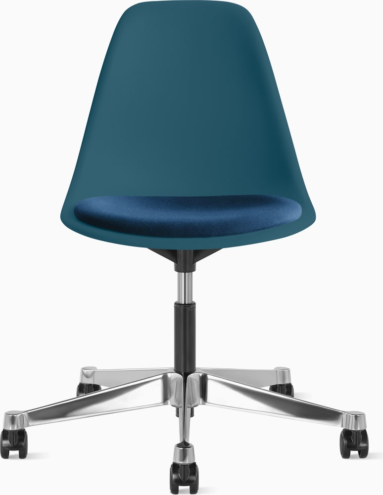 Eames Task Chair With Seatpad Molded, Eames Side Chair Seat Pad
