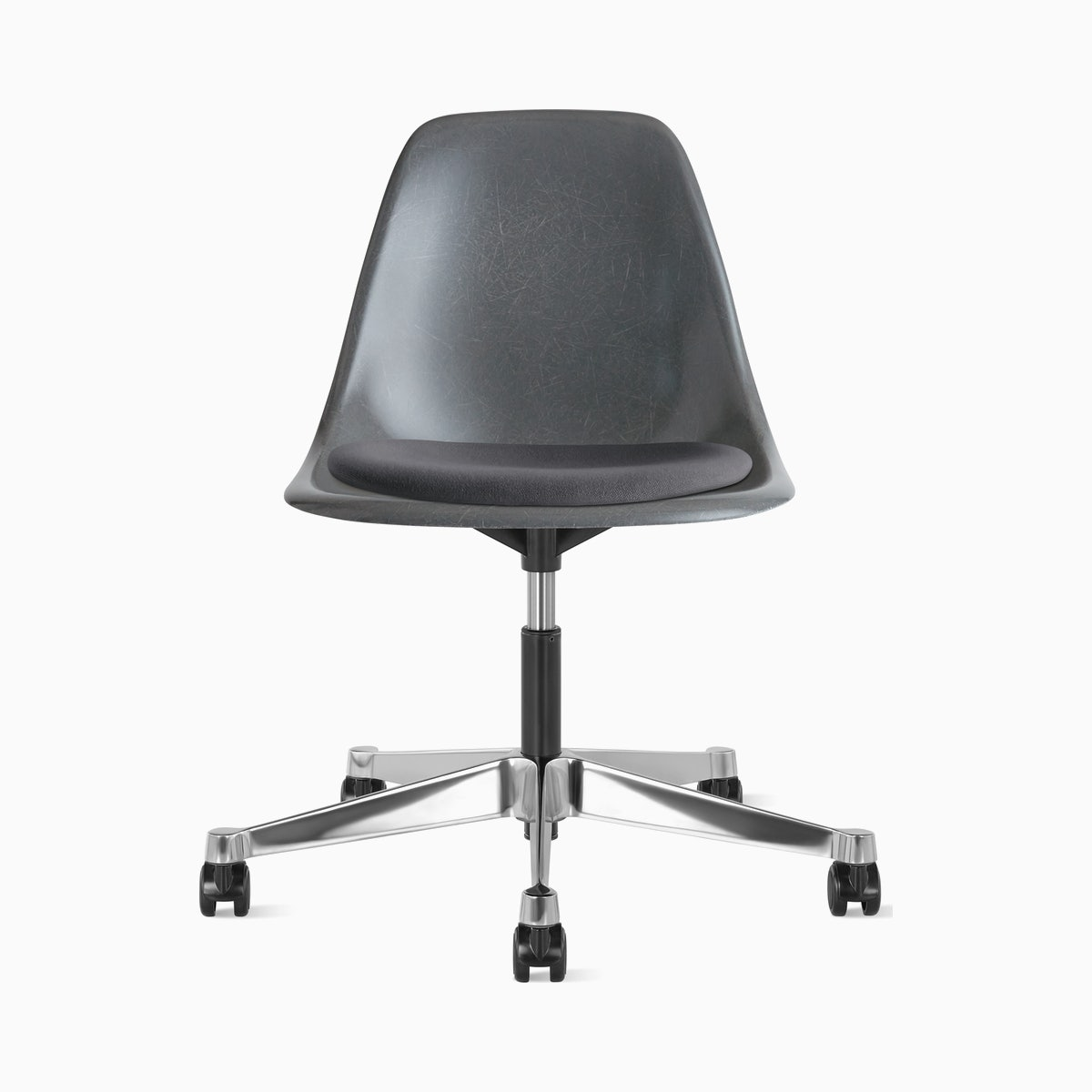 Eames Task Chair with Seatpad, Molded Fiberglass Side chair