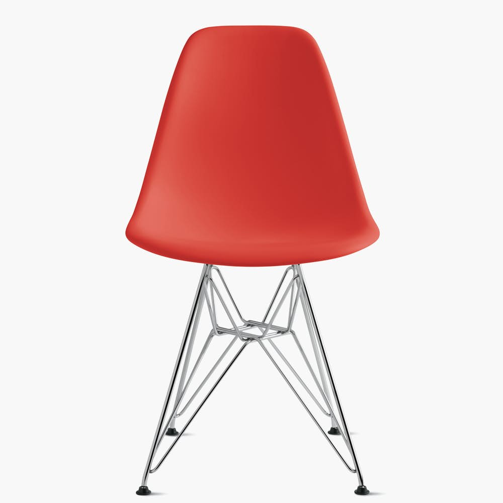 Eames Molded Plastic Wire-Base Side Chair (DSR)