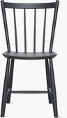 A black J 41 Side Chair viewed from the front