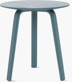 A brunswick green Bella Side Table viewed from the front