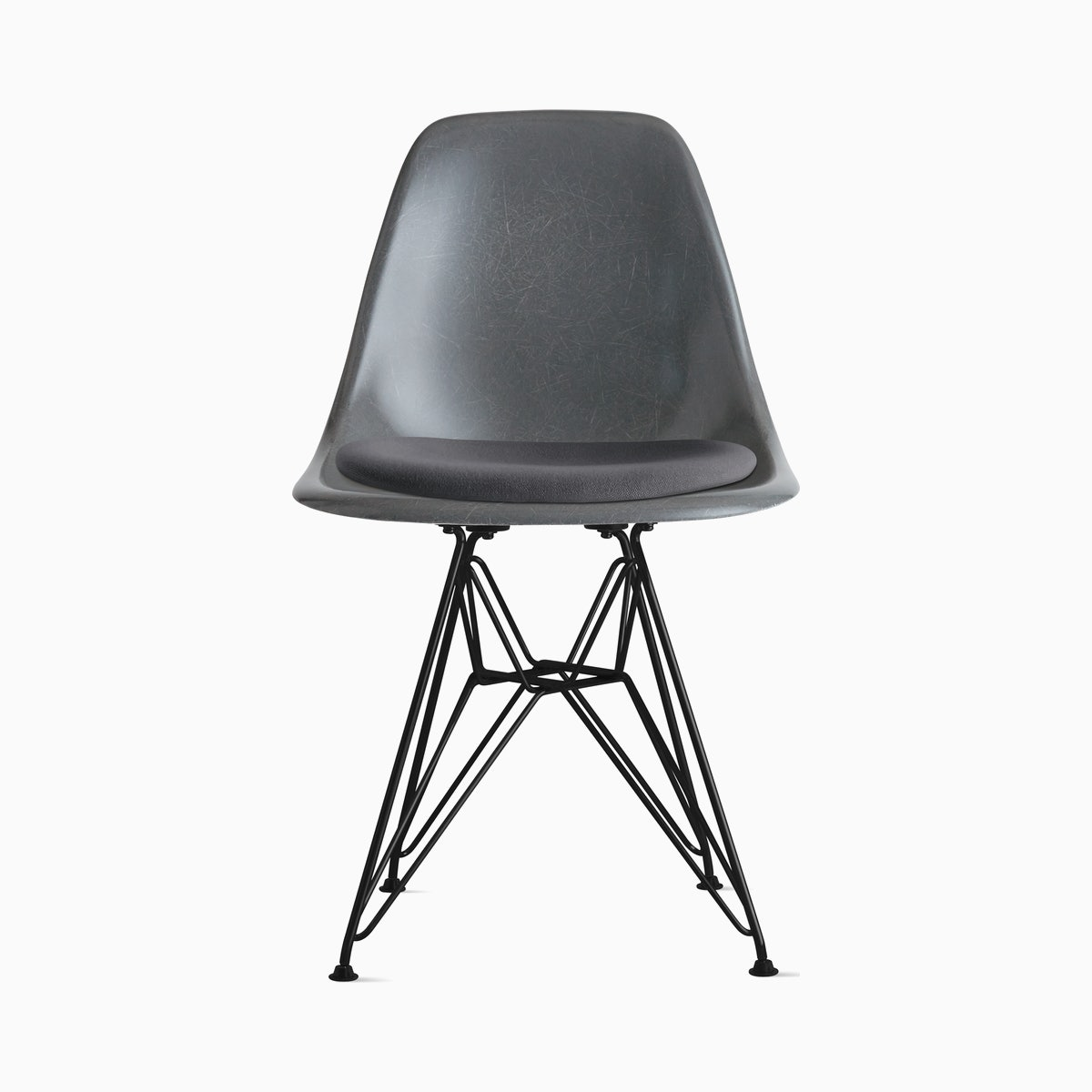 Eames Molded Fiberglass Side Chair with Seat Pad