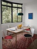 Eames Upholstered Molded Fiberglass Side Chair