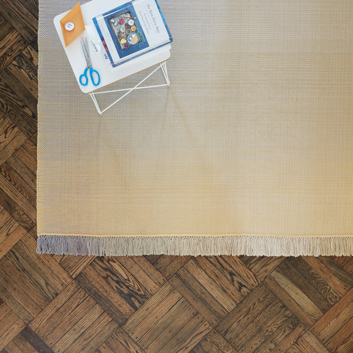 Shade Rug with Eames Wire Base Low Table