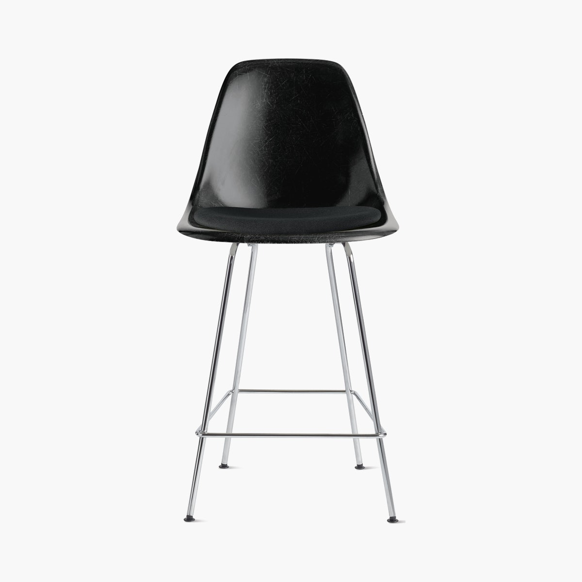 Eames Molded Fiberglass Stool with Seat Pad
