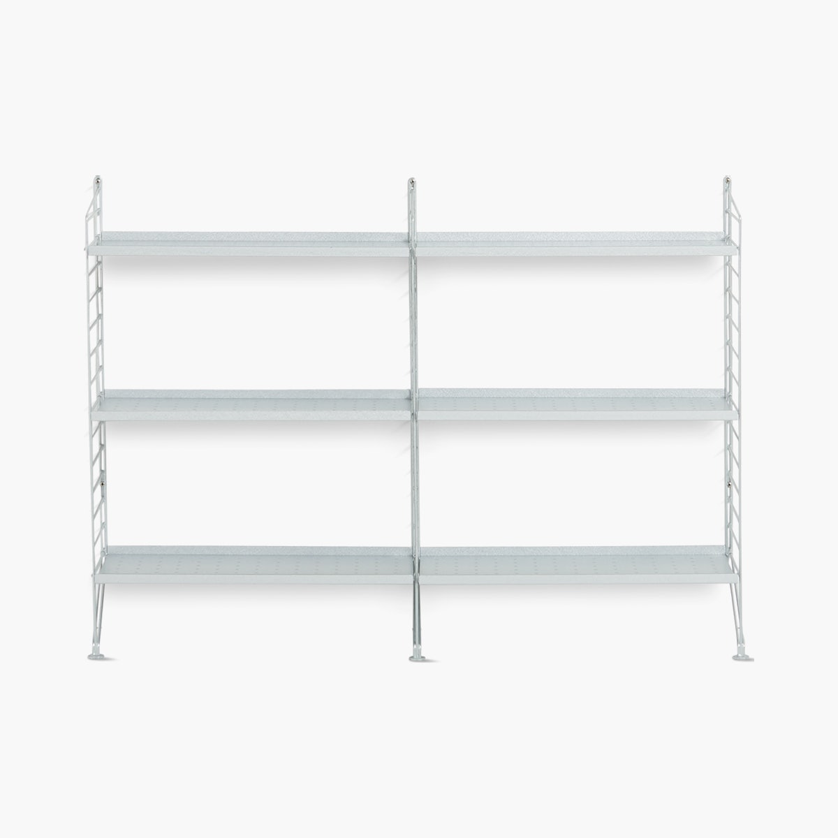 String Galvanized Floor Shelving