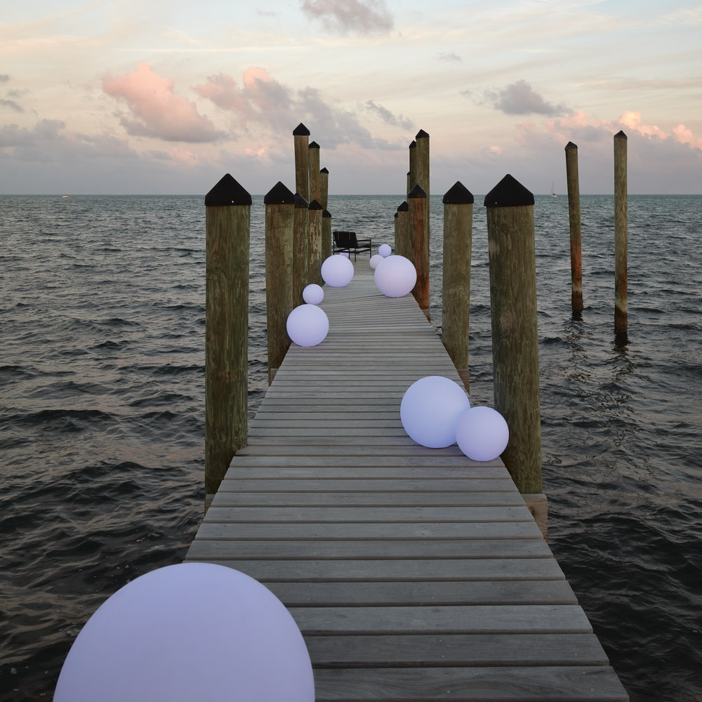 Ball Portable LED Lamp on Dock