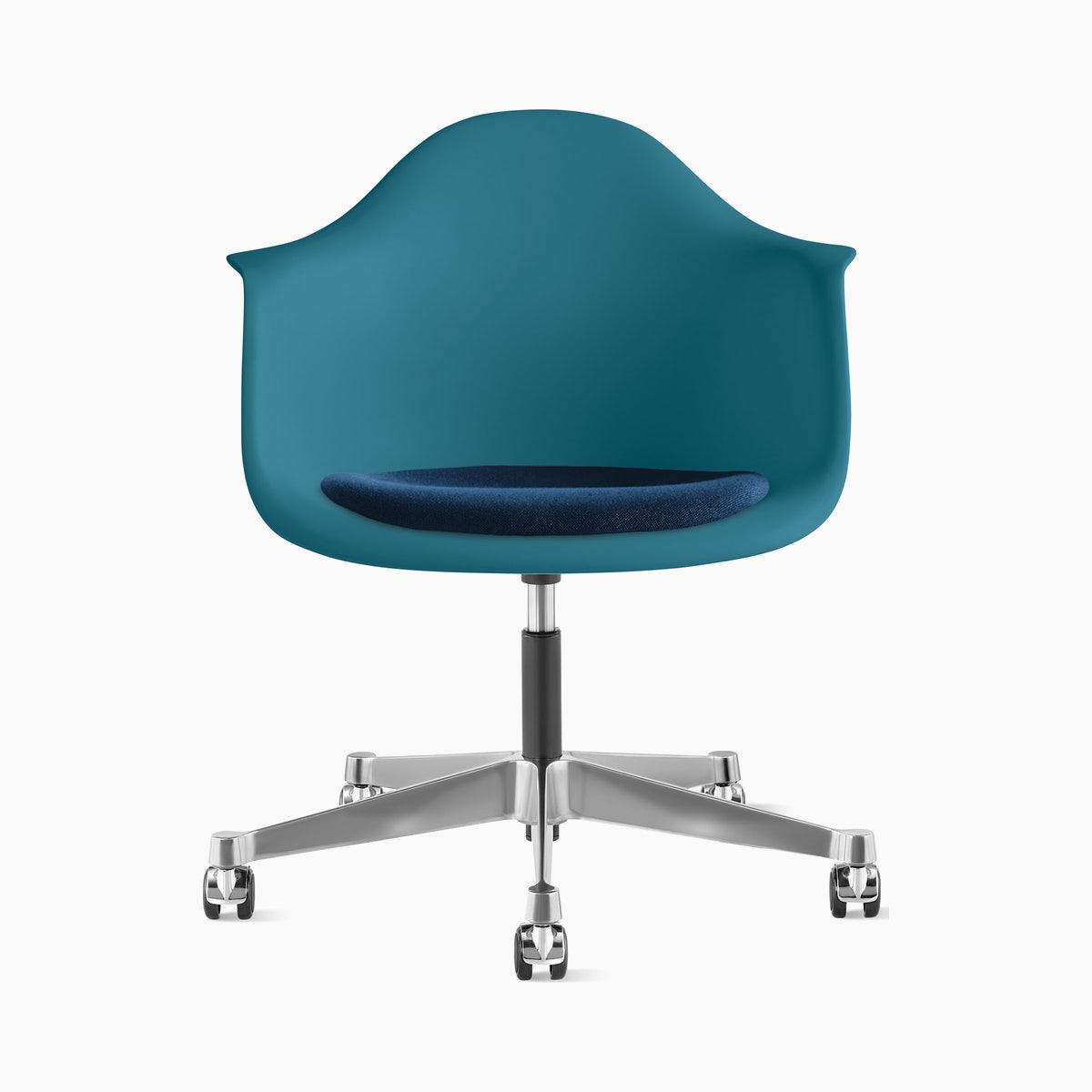 Eames Task Chair with Seatpad, Molded Plastic Armchair