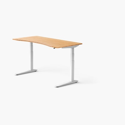 Jarvis Bamboo Standing Desk, Contour with Up/Down, No Grommets
