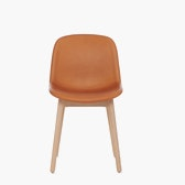 Neu 13 Upholstered Side Chair Wood Base